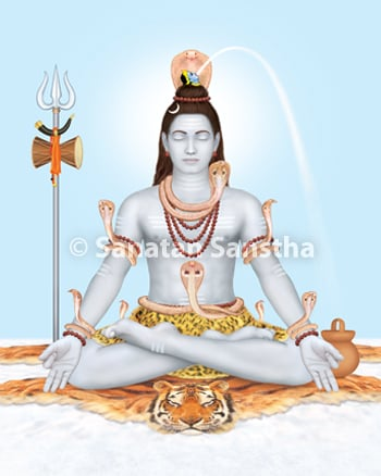Sanatan-made sattvik picture of Deity Shiva