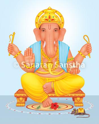 Colored Ganesh Murti