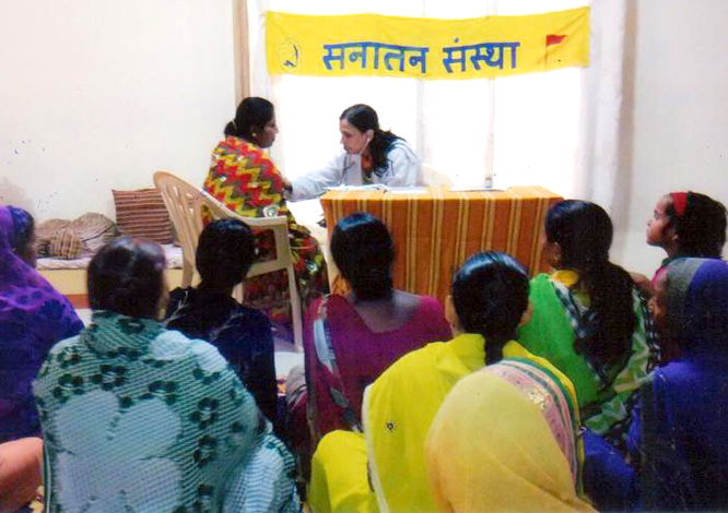 Guidance on living a healthy life, and medical checkup camp for women