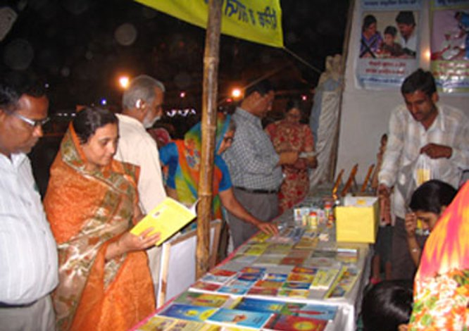 Holding exhibitions of Sanatan's spiritual books that explain the importance of Spirituality