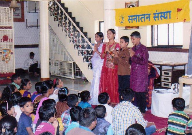Organizing Balsanskar sessions to develop sanskars (values) in our future generation