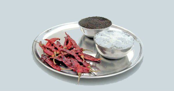 Method of casting off the evil eye using salt and red chillies