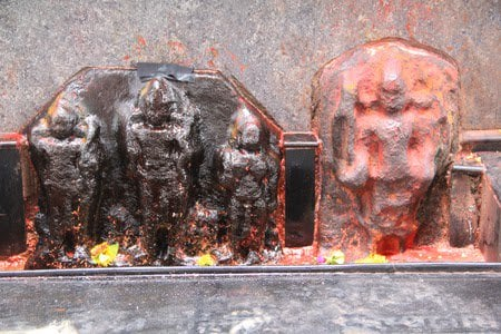 One out of the three and a half seats of Shani (Saturn) and the Shri