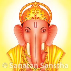 Shri Ganapati with left-sided trunk