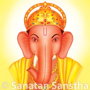 Shri Ganapati with right-sided trunk