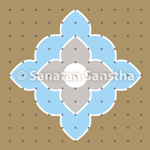 Rangolis to attract and emit Deity Datta tattva (Principle)