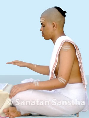Bhasma applied to body