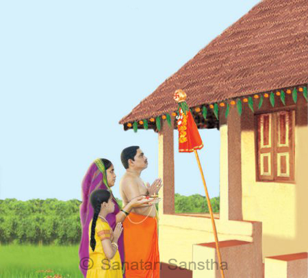 Hoisting of Gudi