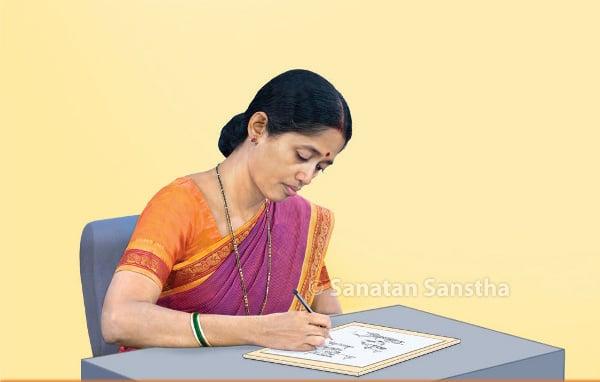Mrs Uma Ravichandran drawing picture depicting balakbhav