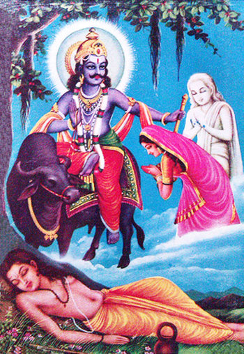 Deity Yama, Savitri and Satyawan