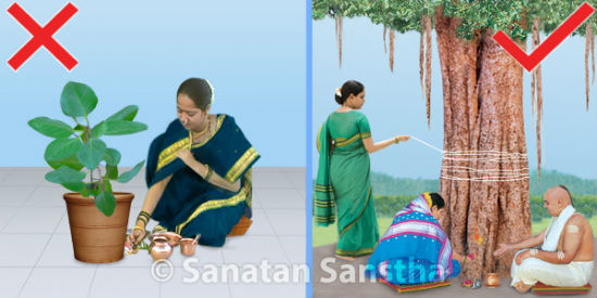 Worshipping Banyan tree is more beneficial than worshipping just a branch