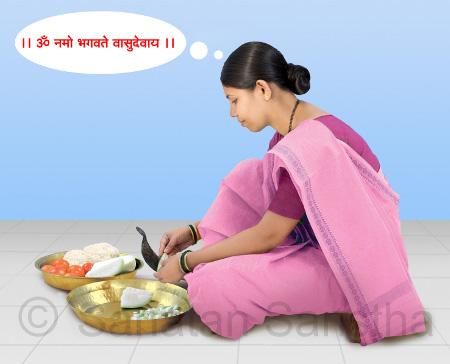 स्वयंपाक करतांना नामजप करणे