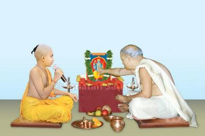 श्रीरामाची पूजा करतांना
